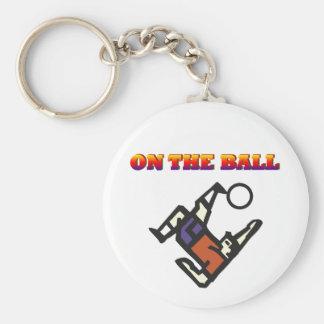 Soccer player key chain