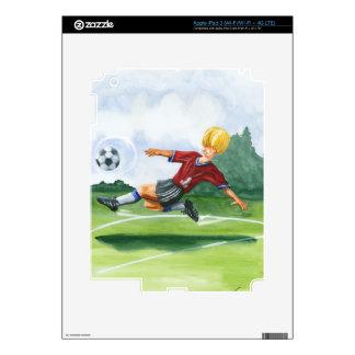 Soccer Player Kicking a Ball by Jay Throckmorton iPad 3 Skin