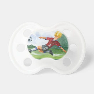 Soccer Player Kicking a Ball by Jay Throckmorton Pacifier