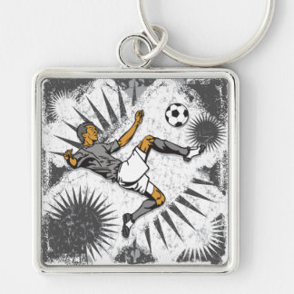 Soccer Player Kicking Ball Key Chain