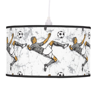 Soccer Player Kicking Ball Ceiling Lamps