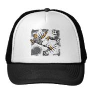 Soccer Player Kicking Ball Trucker Hat