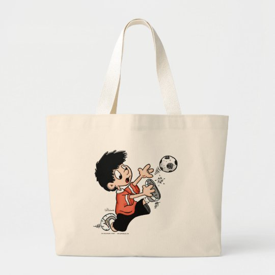 Soccer Player Large Tote Bag