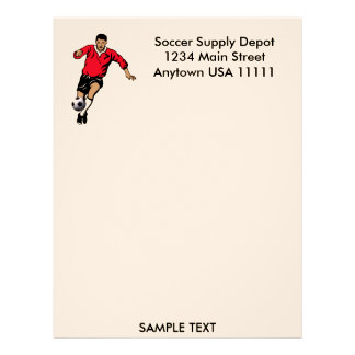 Soccer Player Letterhead Template