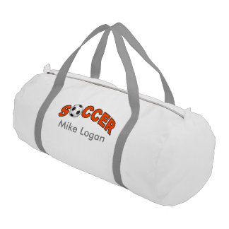 Soccer Player Logo Names Wordart Duffle Bag