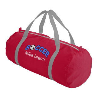 Soccer Player Logo Names Wordart Duffle Bag
