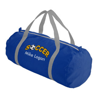 Soccer Player Logo Names Wordart Gym Bag