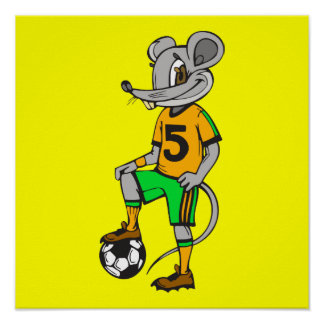 Soccer Player Mouse Poster
