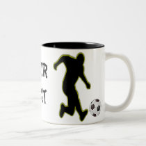 Soccer player-mug Two-Tone coffee mug