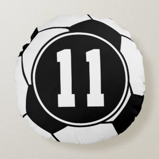 Soccer Player Number 11 Sports Ball Gift Round Pillow