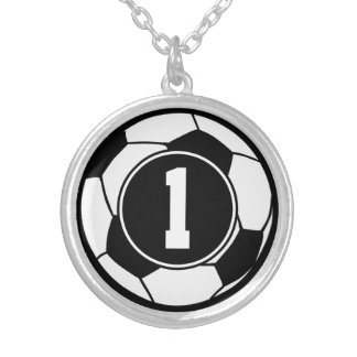 Soccer Player Number 1 Sports Ball Jewelry