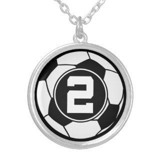 Soccer Player Number 2 Sports Ball Jewelry