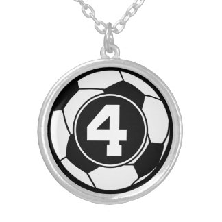 Soccer Player Number 4 Sports Ball Jewelry