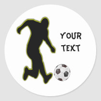 soccer player-personalized sticker