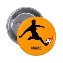 SOCCER player Pinback Button