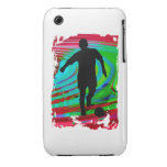 Soccer Player & Radical Rainbow Case-Mate iPhone 3 Case
