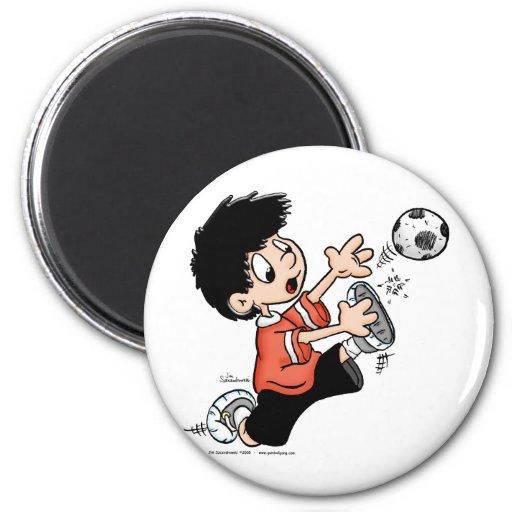 Soccer Player Refrigerator Magnets