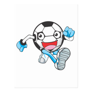 Soccer Player Running Postcard