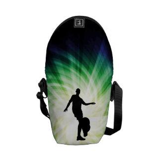 Soccer Player Silhouette Messenger Bags