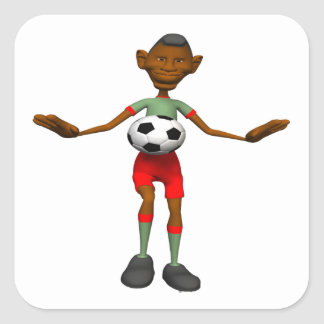 Soccer Player Square Sticker