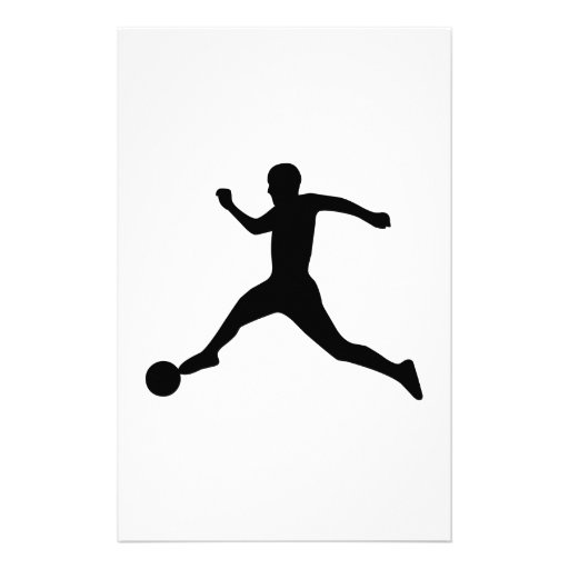 Soccer Player Customized Stationery