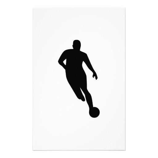Soccer Player Stationery Design