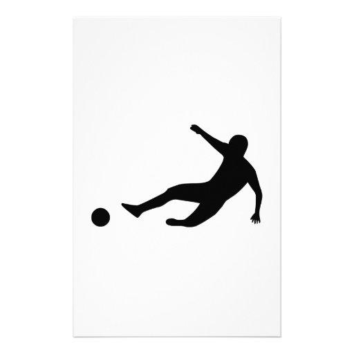 Soccer Player Custom Stationery