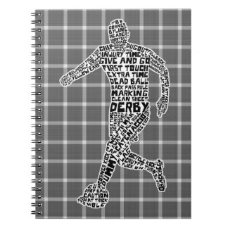 Soccer Player Typographic Notebook