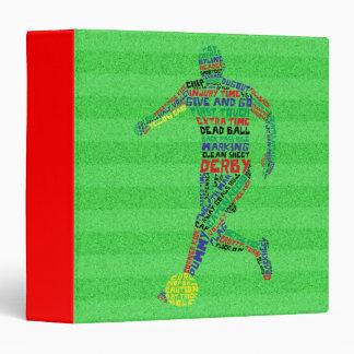 Soccer Player Typography 3 Ring Binder