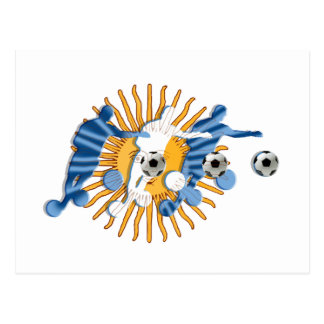 Soccer players Argentinian sun flag gifts Postcard