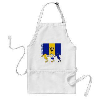 Soccer Players -  Barbados Adult Apron