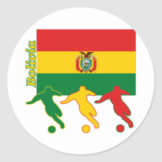Soccer Players - Bolivia Classic Round Sticker
