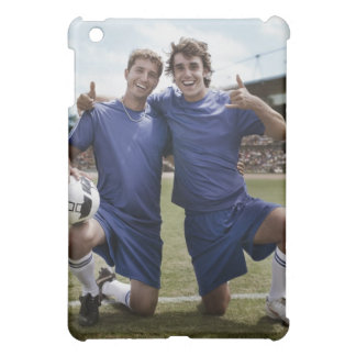 Soccer players cheering cover for the iPad mini