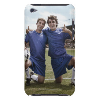 Soccer players cheering iPod touch Case-Mate case