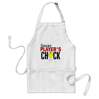 Soccer Player's Chick Adult Apron