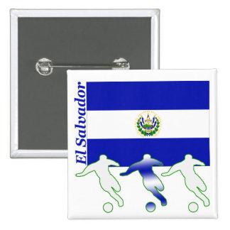Soccer Players - El Salvador Pinback Buttons