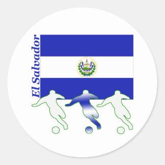 Soccer Players - El Salvador Classic Round Sticker