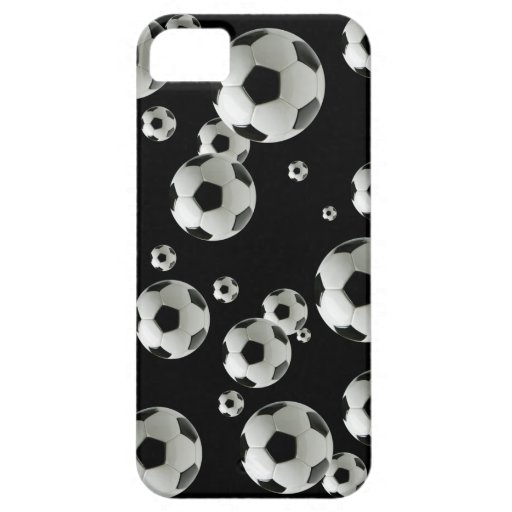 Soccer players fans and coaches soccer ball iPhone 5 cover