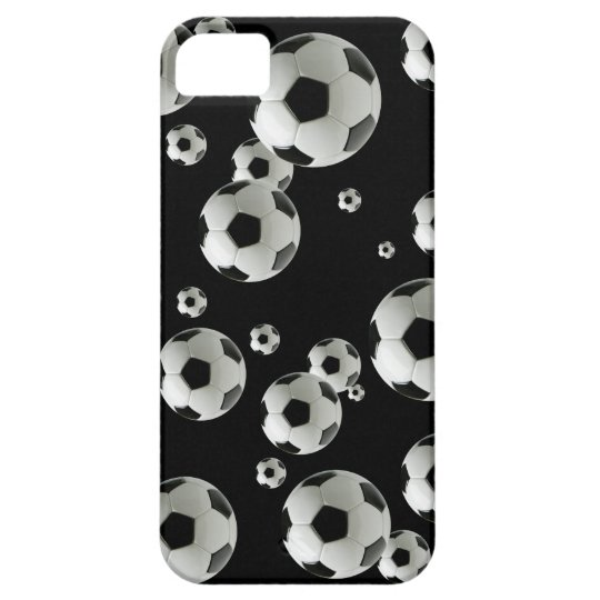 Soccer players fans and coaches soccer ball iPhone SE/5/5s case