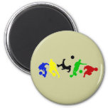 Soccer players   football sports fan 2 inch round magnet