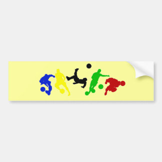 Soccer players   football sports fan car bumper sticker