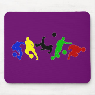 Soccer players   football sports fan mouse pad
