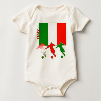 Soccer Players - Italy Baby Bodysuit