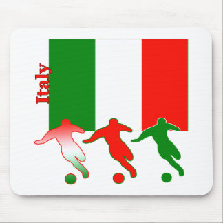 Soccer Players - Italy Mouse Pad