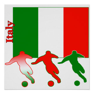 Soccer Players - Italy Poster