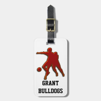 SOCCER PLAYERS LUGGAGE TAG