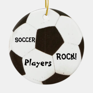 Soccer Players Rock! Christmas Ornament