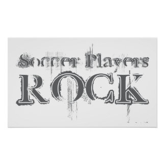 Soccer Players Rock Posters