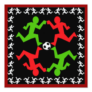 Soccer Players Running to the Ball Pattern Card
