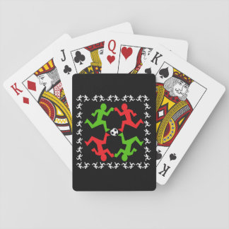 Soccer Players Running to the Ball Pattern Playing Cards
